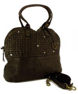 harbour 2nd flecht handtasche aus rindleder grau bags more. Black Bedroom Furniture Sets. Home Design Ideas