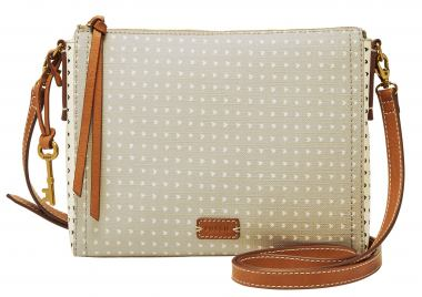 Fossil Crossovertasche Emma EW CB Grey/White Herzen