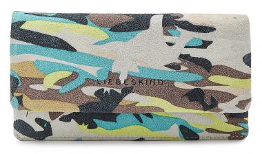 0fec9e7f43ee Liebeskind Börse SlamF7 Printed Crosta Camouflage Lime Green - Bags ...
