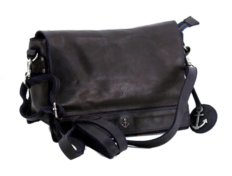 32304dff933 Überschlagtasche Sprotte Navy Harbour 2nd blau Leder - Bags & more