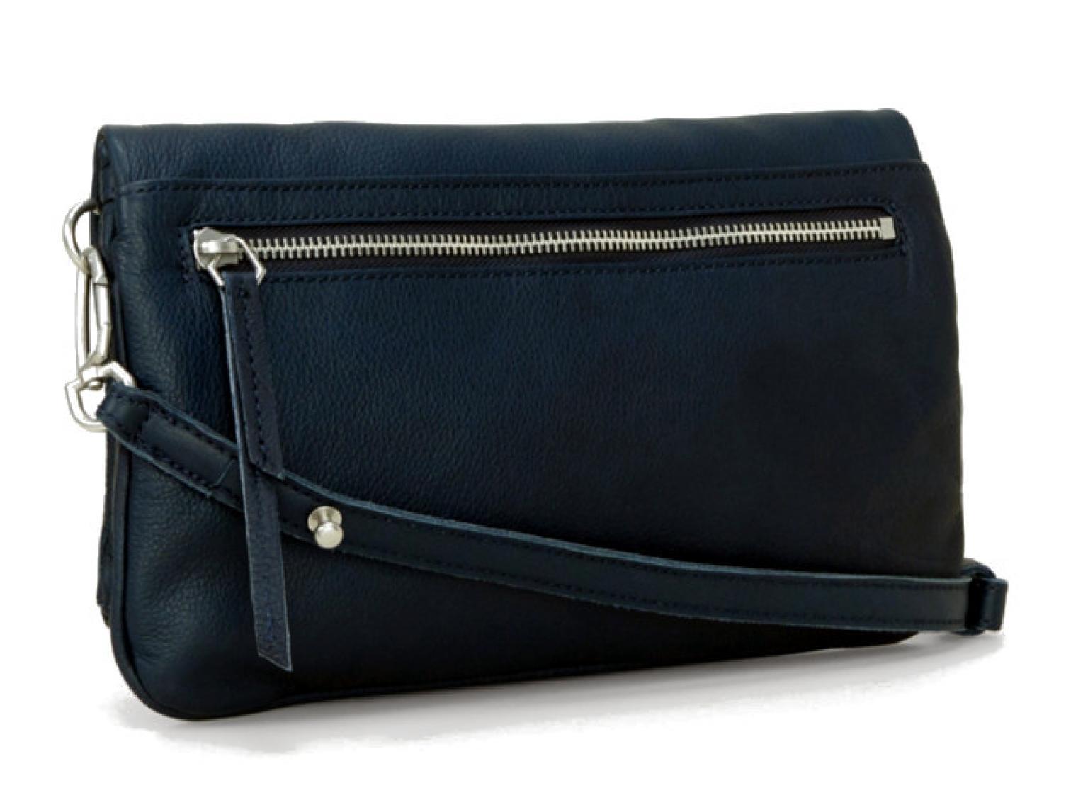 Liebeskind Clutch Aloe7 Ledertasche Dark Blue Vintage - Bags   more 4489dbf063