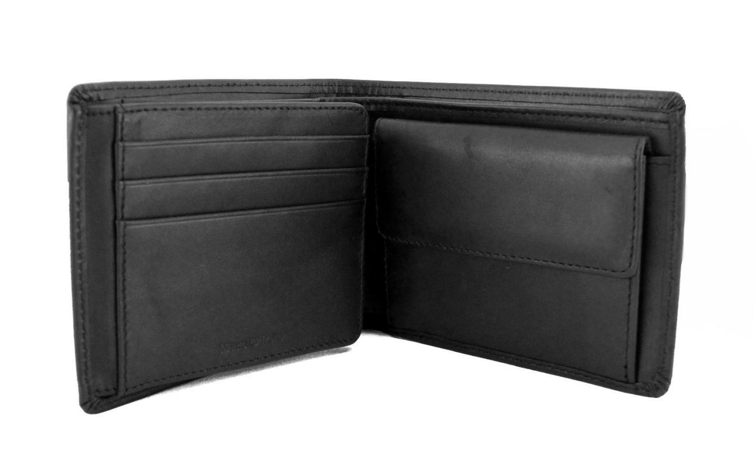 buy popular 06a94 35b17 Marc`O Polo Herren Portmonee Querformat Leder Grau