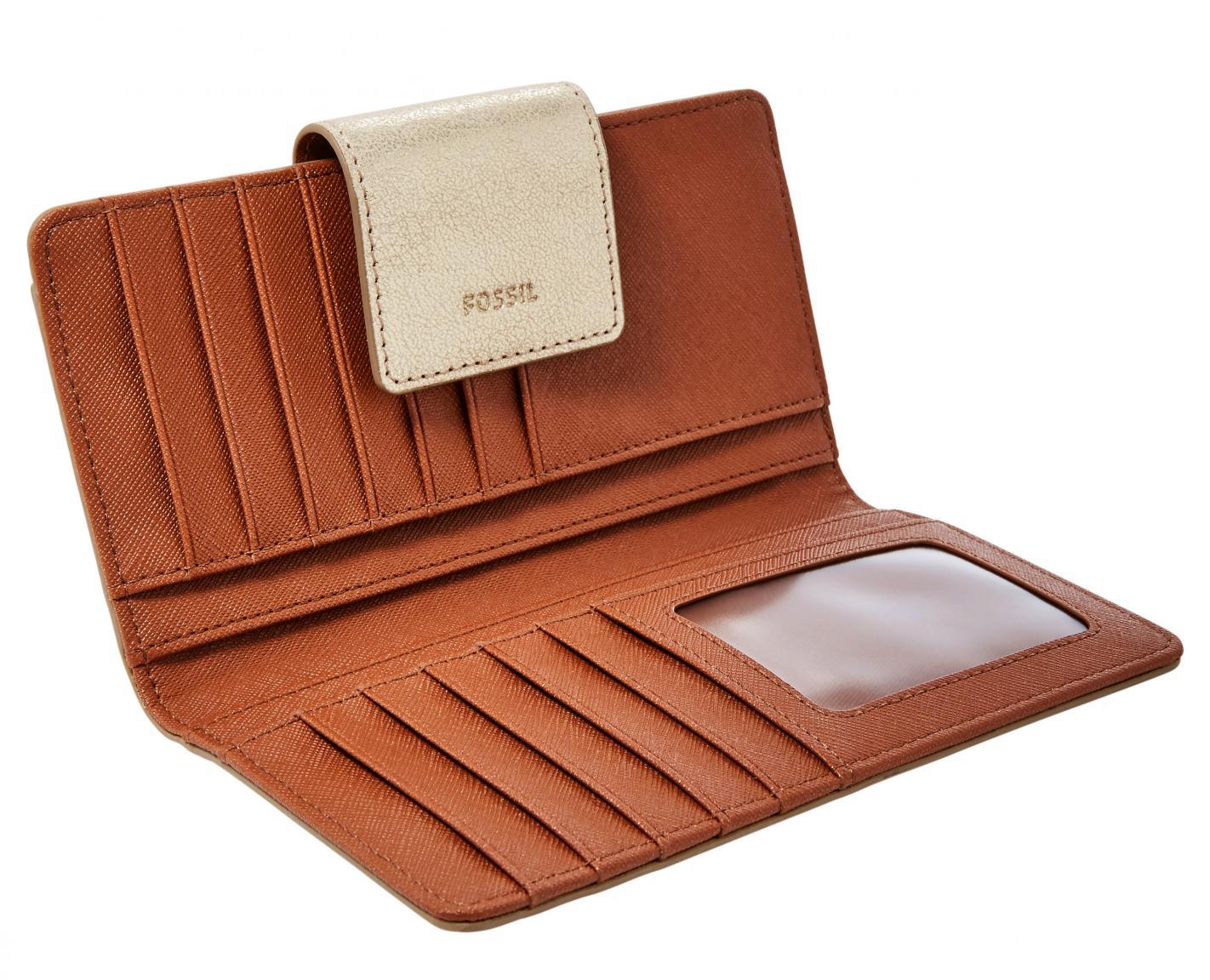 d5034bc21c21b Fossil Portemonnaie Emma Tab RFID Pale Gold Metallic - Bags   more