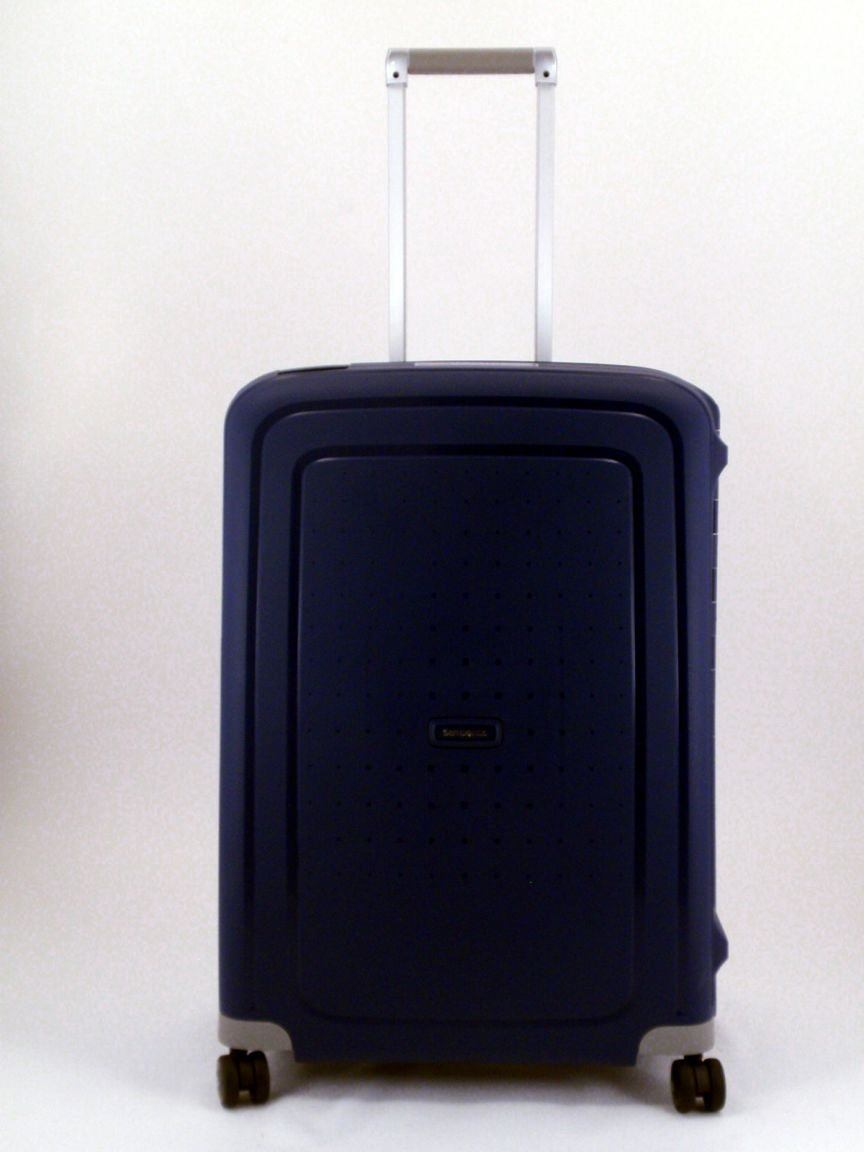 4 rad trolley 69cm samsonite s cure blau bags more. Black Bedroom Furniture Sets. Home Design Ideas