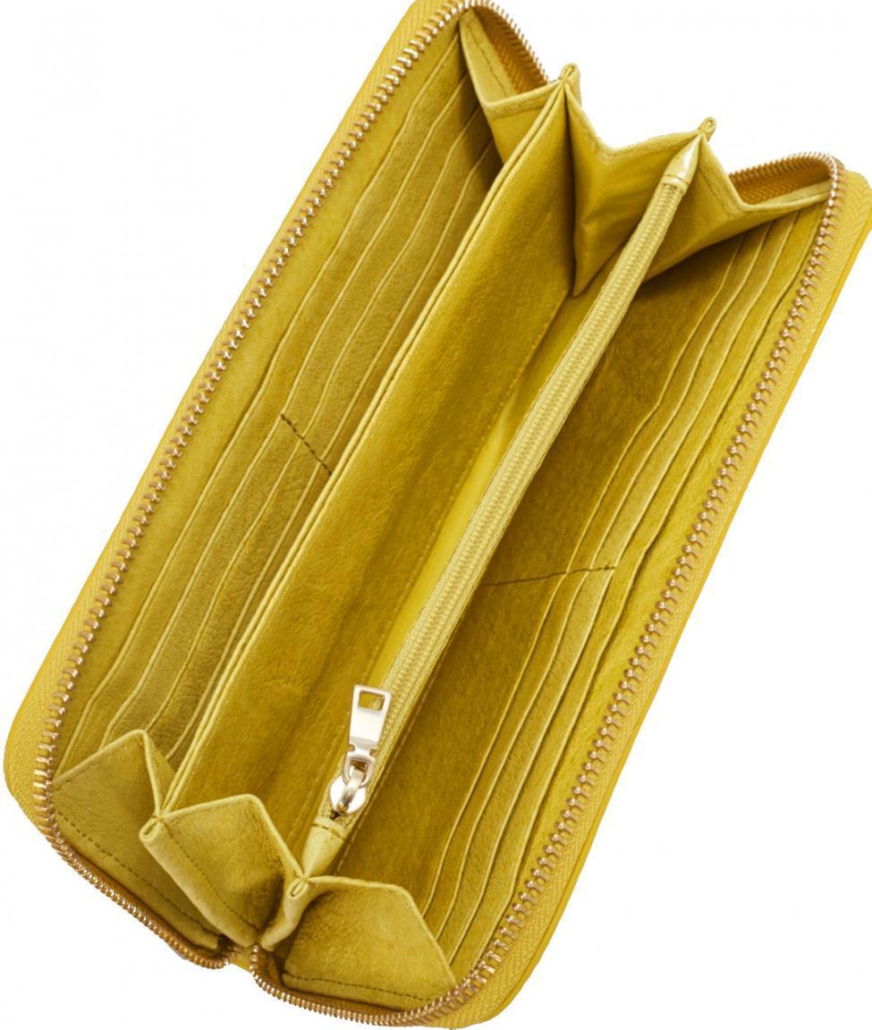 be9aadd7663a9 Liebeskind Zipbörse Leder Aruba Vintage lime zest gelb - Bags   more