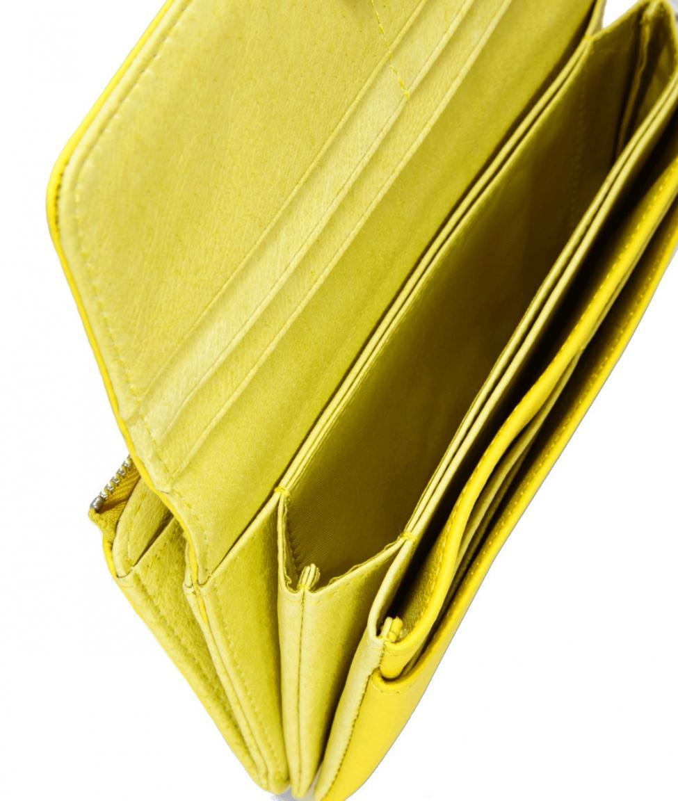 f1e17d46325be Liebeskind Longbörse Leder PiaF8 Vintage lime zest gelb - Bags   more
