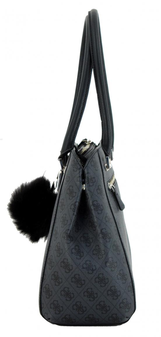 2163e7cdd7b53 Handtasche Guess Logo Luxe Blue Webpelzanhänger Alloverdruck - Bags ...
