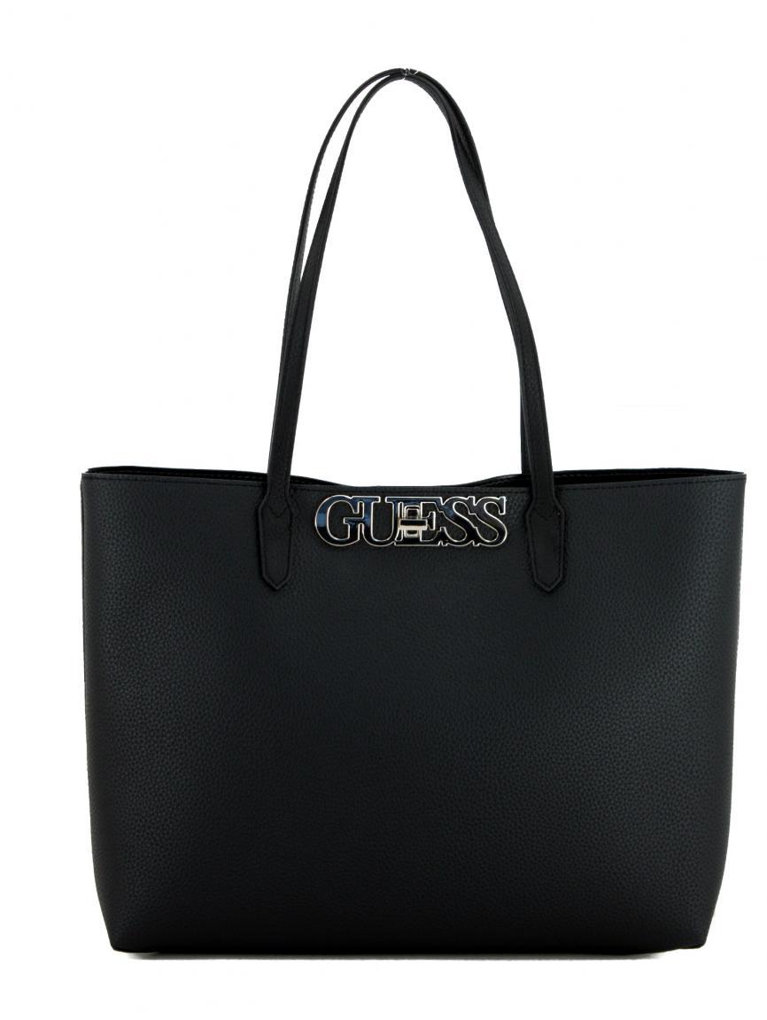 Henkeltasche Guess Uptown Chic schwarz Innentasche Bags & more