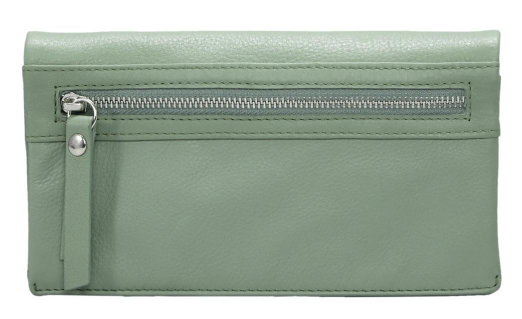 Branco Leder Geldbörse Portemonnaie Damenbörse schwarz rot taupe lila blau grün