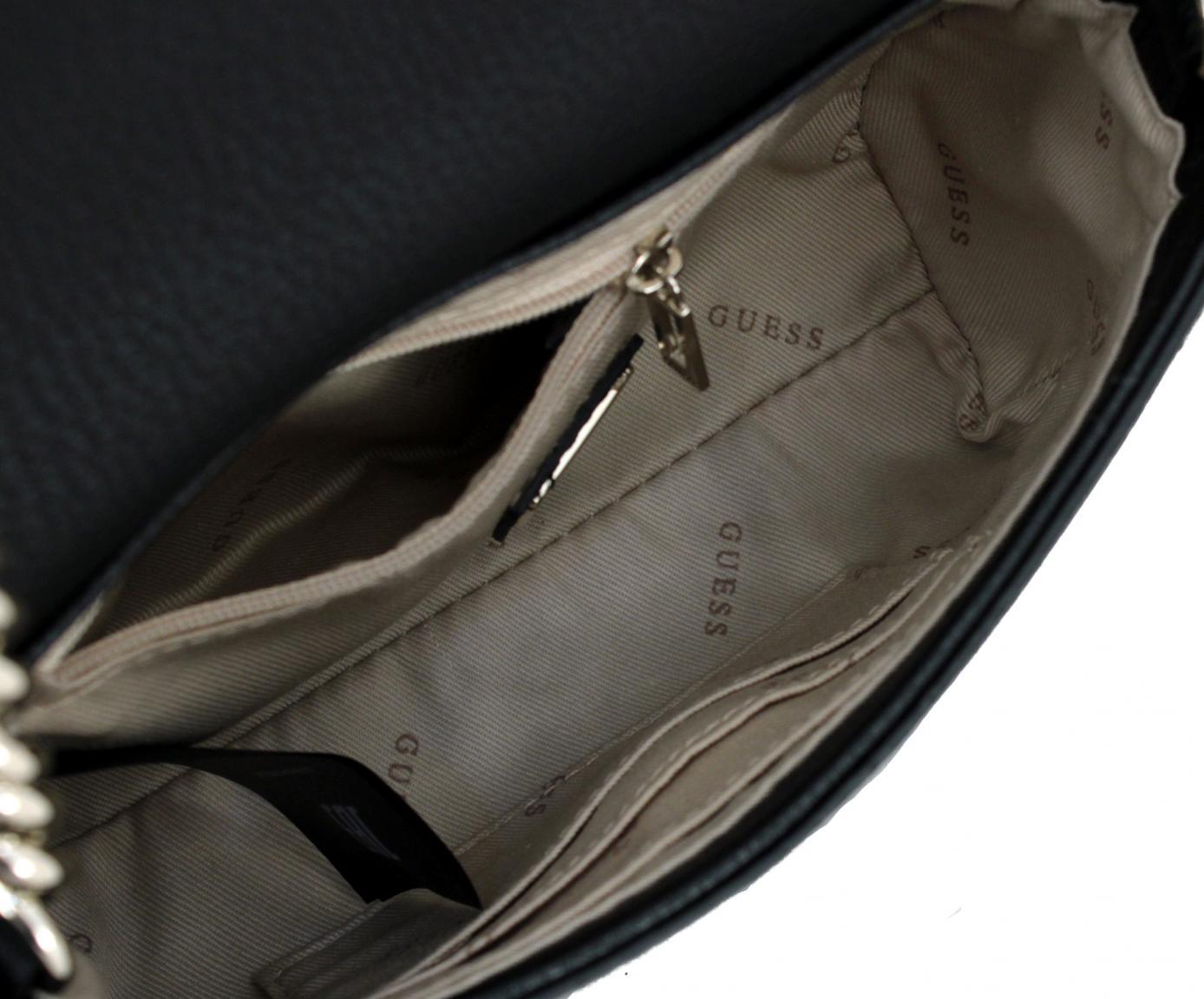 b6e1811158de1 Alma Mini Umhängetasche Crossbody Flap schwarz Kette Guess - Bags   more