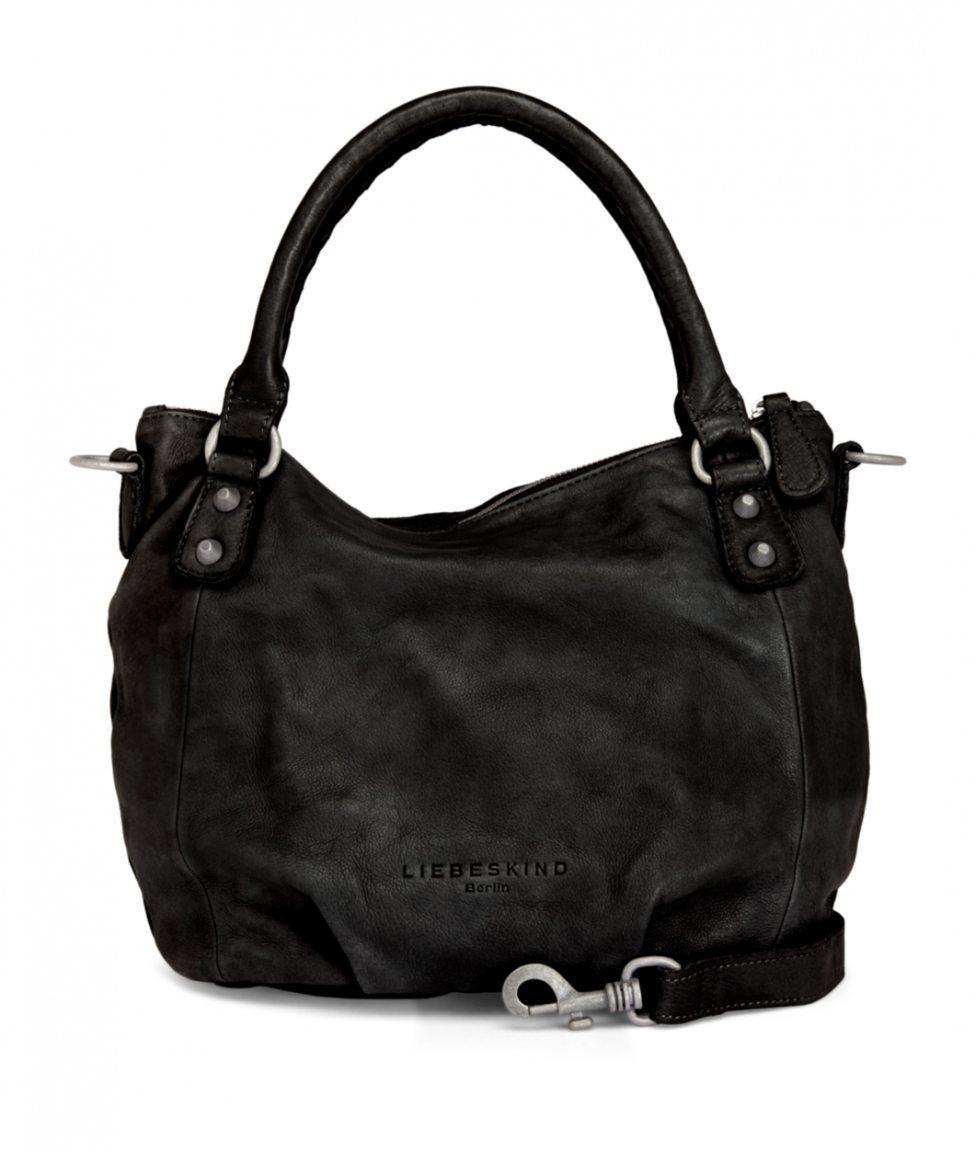 liebeskind gina vintage ledertasche schwarz bags more. Black Bedroom Furniture Sets. Home Design Ideas