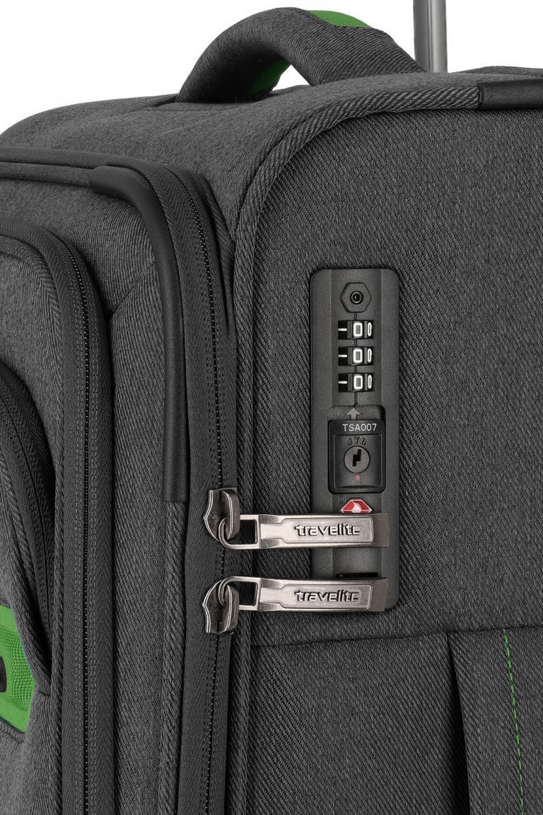 4-Rad Rollenkoffer Travelite Madeira S 55cm anthrazit grün grau