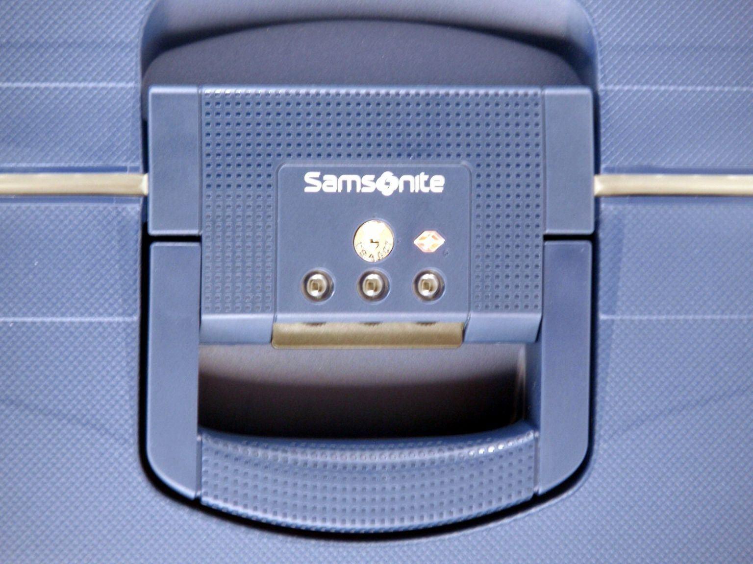 4-Rad Trolley 75cm Samsonite S´Cure blau