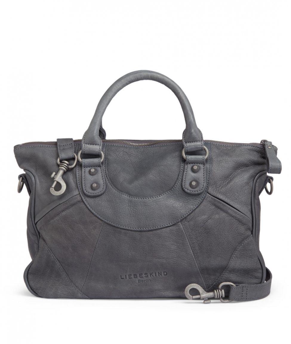 liebeskind esther vintage ledertasche grau bags more. Black Bedroom Furniture Sets. Home Design Ideas