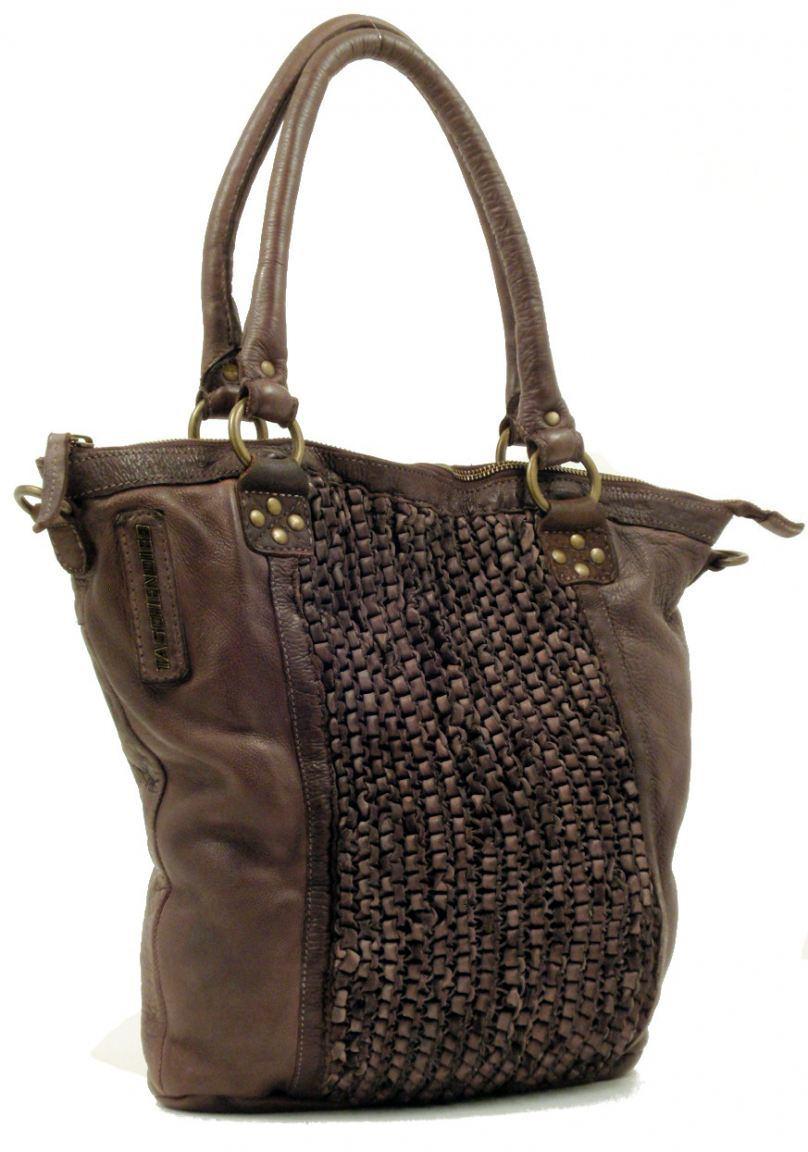 taschendieb shopper mit geh keltem leder braun bags more. Black Bedroom Furniture Sets. Home Design Ideas