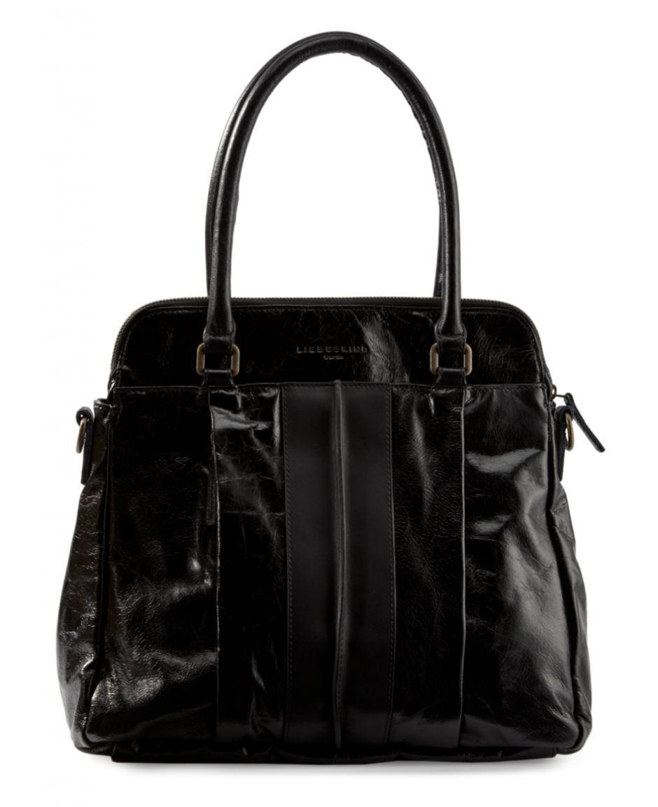 liebeskind karla glossy ledertasche schwarz bags more. Black Bedroom Furniture Sets. Home Design Ideas