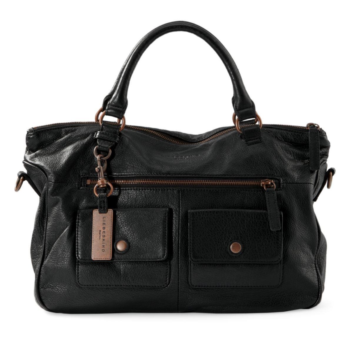liebeskind estherpocket ledertasche schwarz bags more. Black Bedroom Furniture Sets. Home Design Ideas