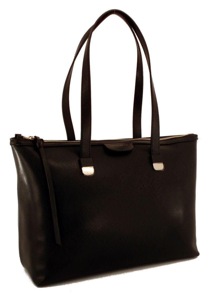 coccinelle tasche shopper maya saffiano nero schwarz vds bags more. Black Bedroom Furniture Sets. Home Design Ideas