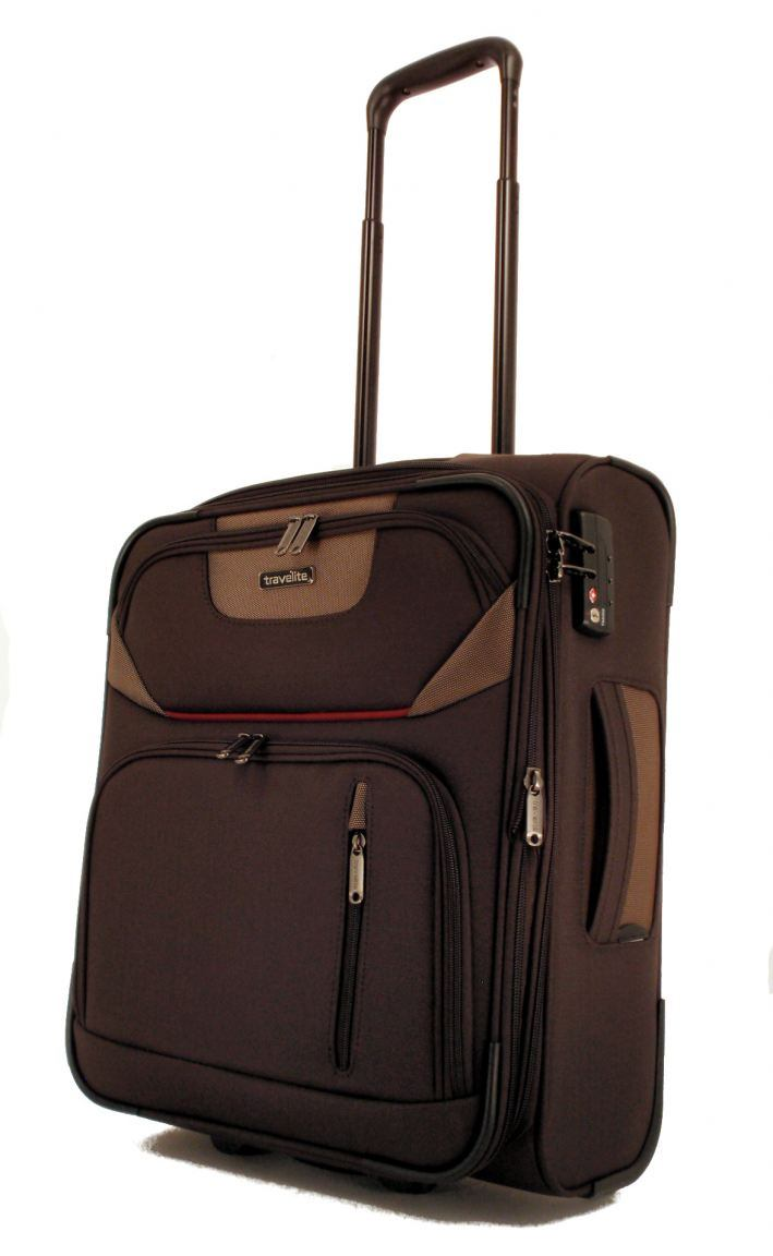 travelite moderna handgep ck trolley s 50cm braun bags. Black Bedroom Furniture Sets. Home Design Ideas