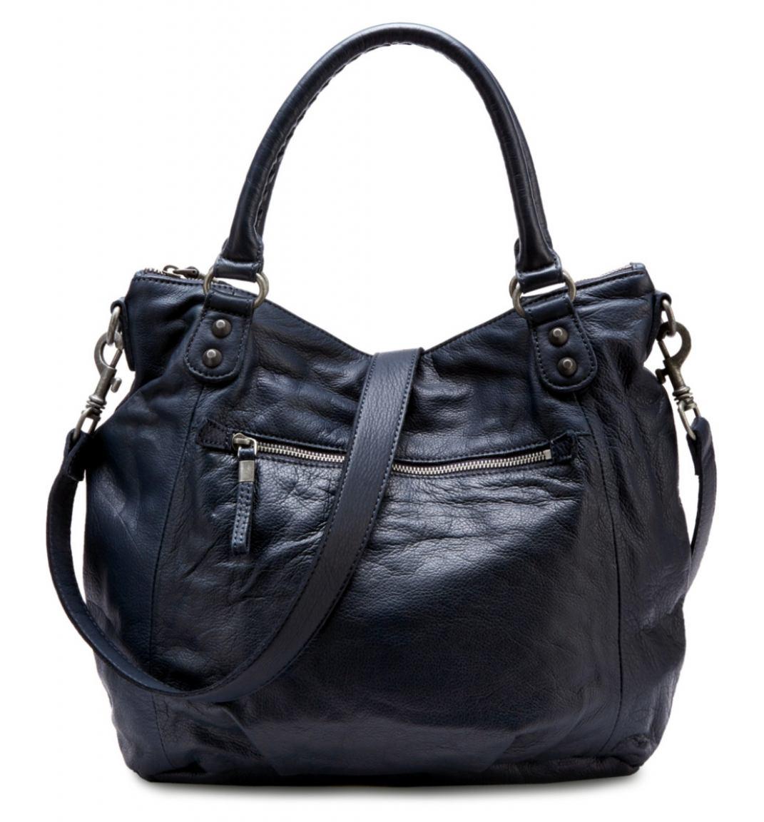 liebeskind greta6 vintage handtasche leder dunkelblau. Black Bedroom Furniture Sets. Home Design Ideas