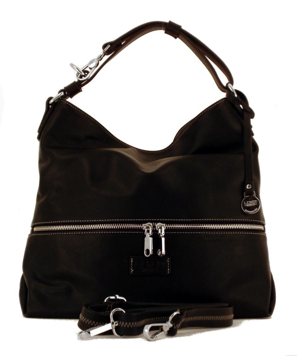 l credi handtasche mit zweigeteiltem hauptfach sand bags more. Black Bedroom Furniture Sets. Home Design Ideas