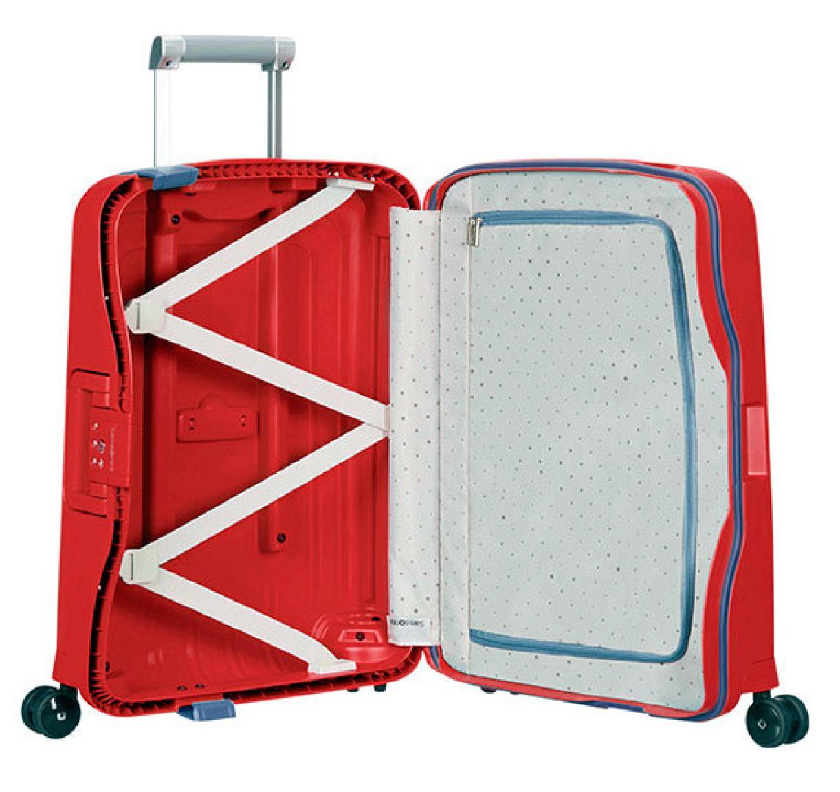 4 rad handgep ck trolley 55cm samsonite s 39 cure rot bags. Black Bedroom Furniture Sets. Home Design Ideas
