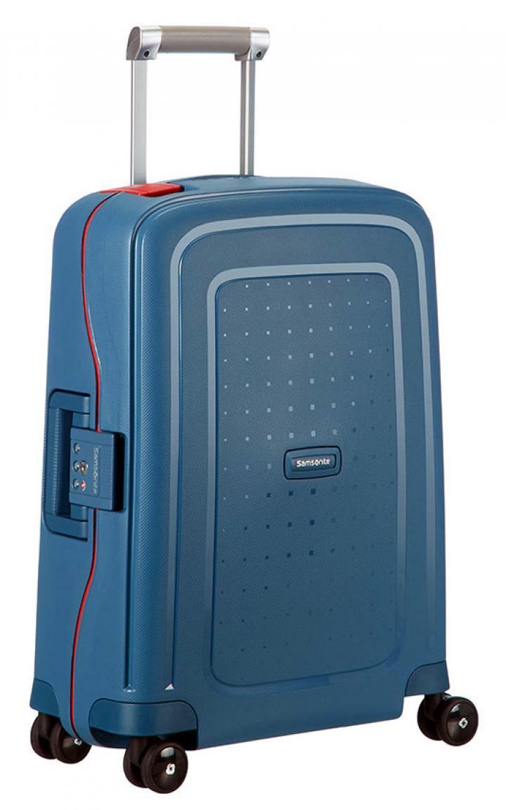 4 rad handgep ck trolley 55cm samsonite s 39 cure blau bags. Black Bedroom Furniture Sets. Home Design Ideas