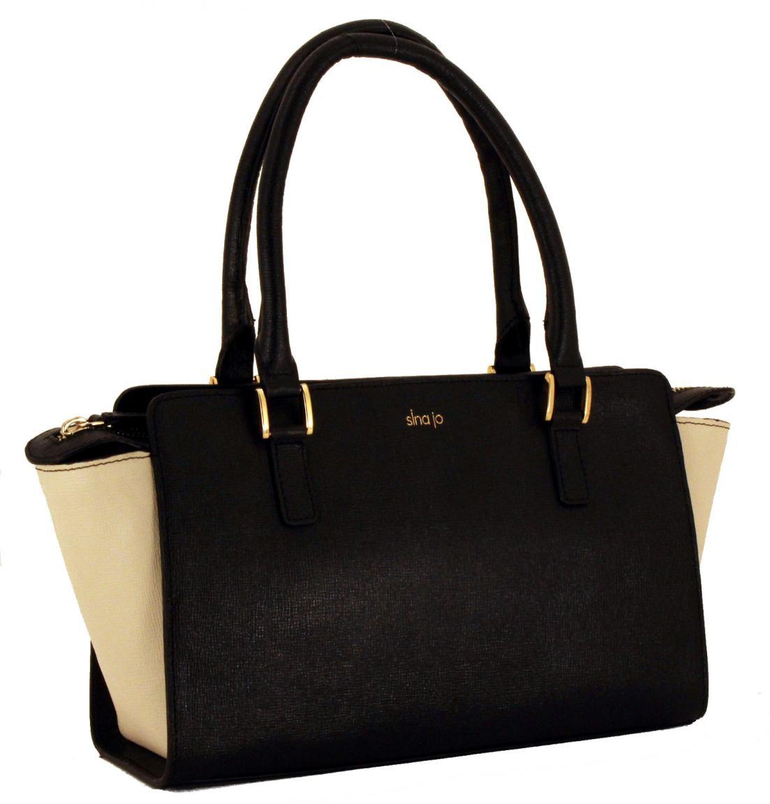 henkeltasche sina jo leder schwarz ice 70112 bags more. Black Bedroom Furniture Sets. Home Design Ideas
