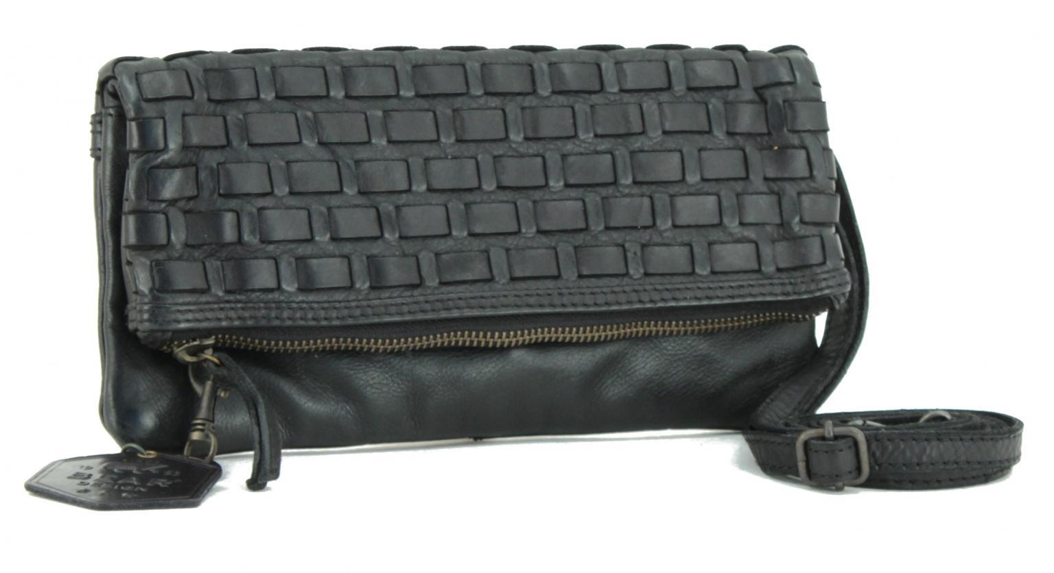 Abendtasche Bear Bags New Woven Zwart Flechttasche schwarz