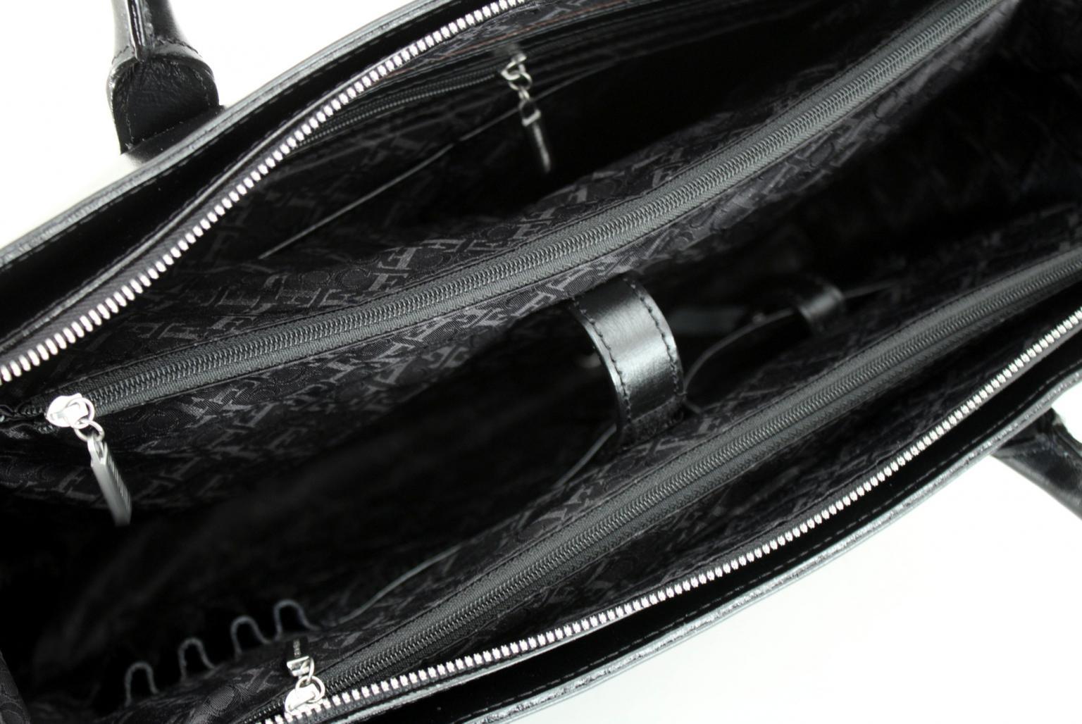 Aktentasche für Damen Claudio Ferrici schwarz Laptop