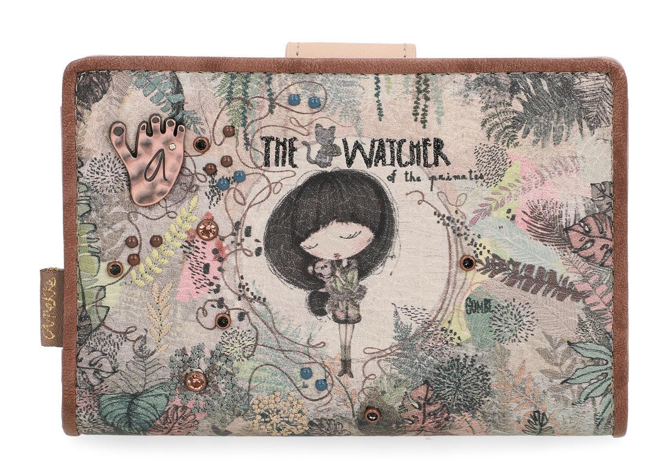 Anekke Geldbeutel Jungle The Watcher bestickt klappbar