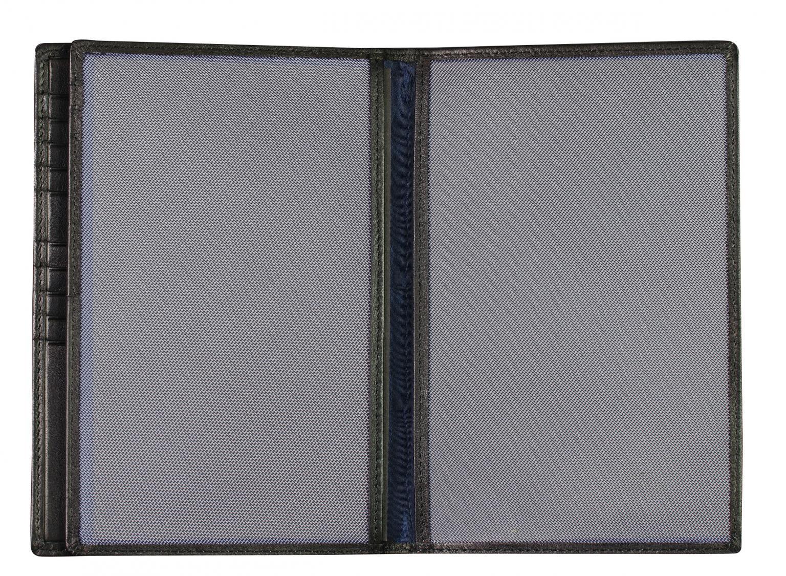 Ausweisetui Maitre F3 Aigwan Wallet Kartenfächer schwarz Leder