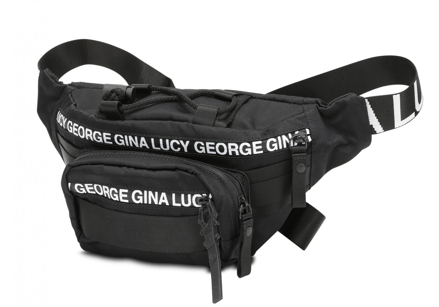 Bauchtasche George Gina Lucy Belly Bean Black Nylon Roots Solid