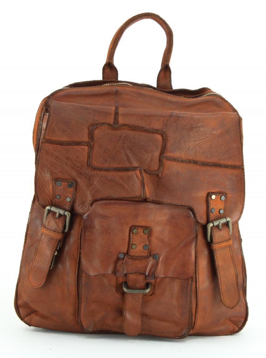 Bear Bags Grizzly Rucksack Ziernähte schwarz Vintage
