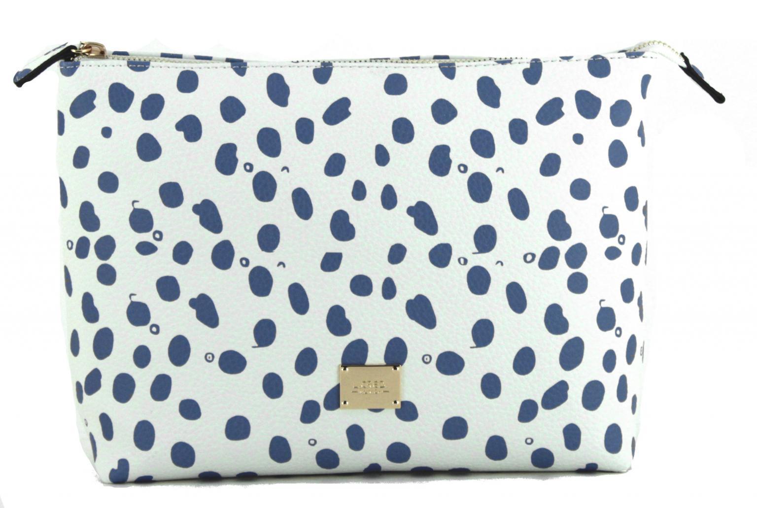 Beauty Bag L.Credi Carol weiß blau Toilettetasche