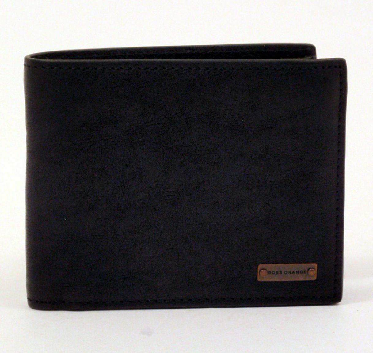 0545d80334f37 Boss Orange Redcliffe Geldtasche Herren Leder schwarz - Bags   more