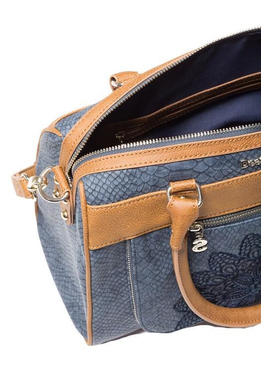Bowlingtasche Desigual Aquiles Dublin Schlangenoptik blau