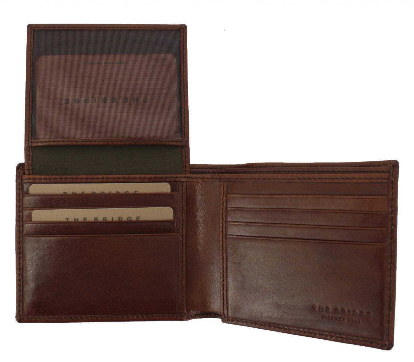 Brieftasche ohne Münzfach dunkelbraun The Bridge Story