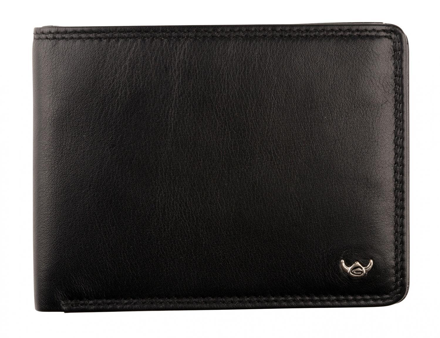 Brieftasche Golden Head Geheimfach Polo RFID Protect Schwarz