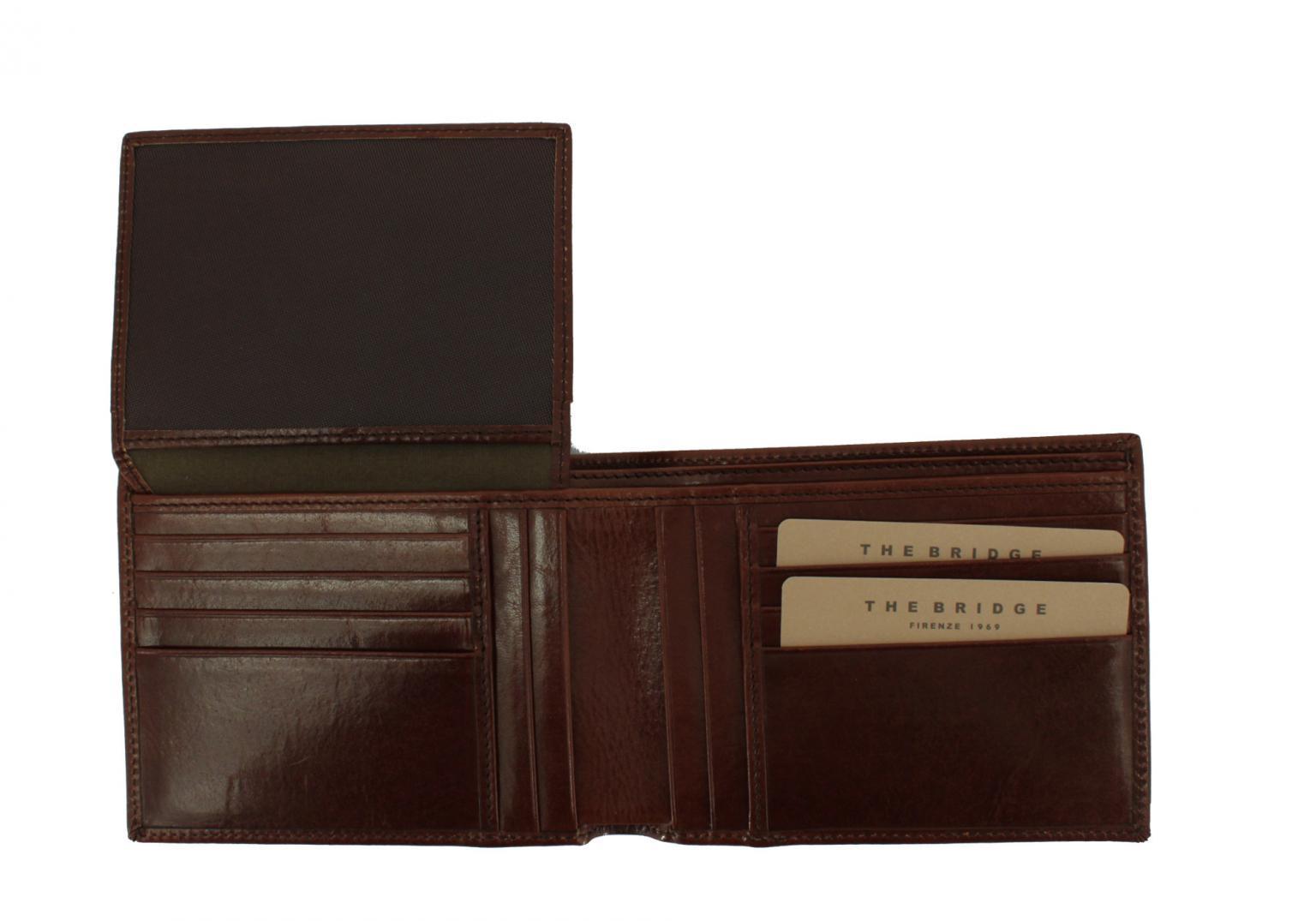 Brieftasche The Bridge Story Uomo ohne Münzfachfach braun