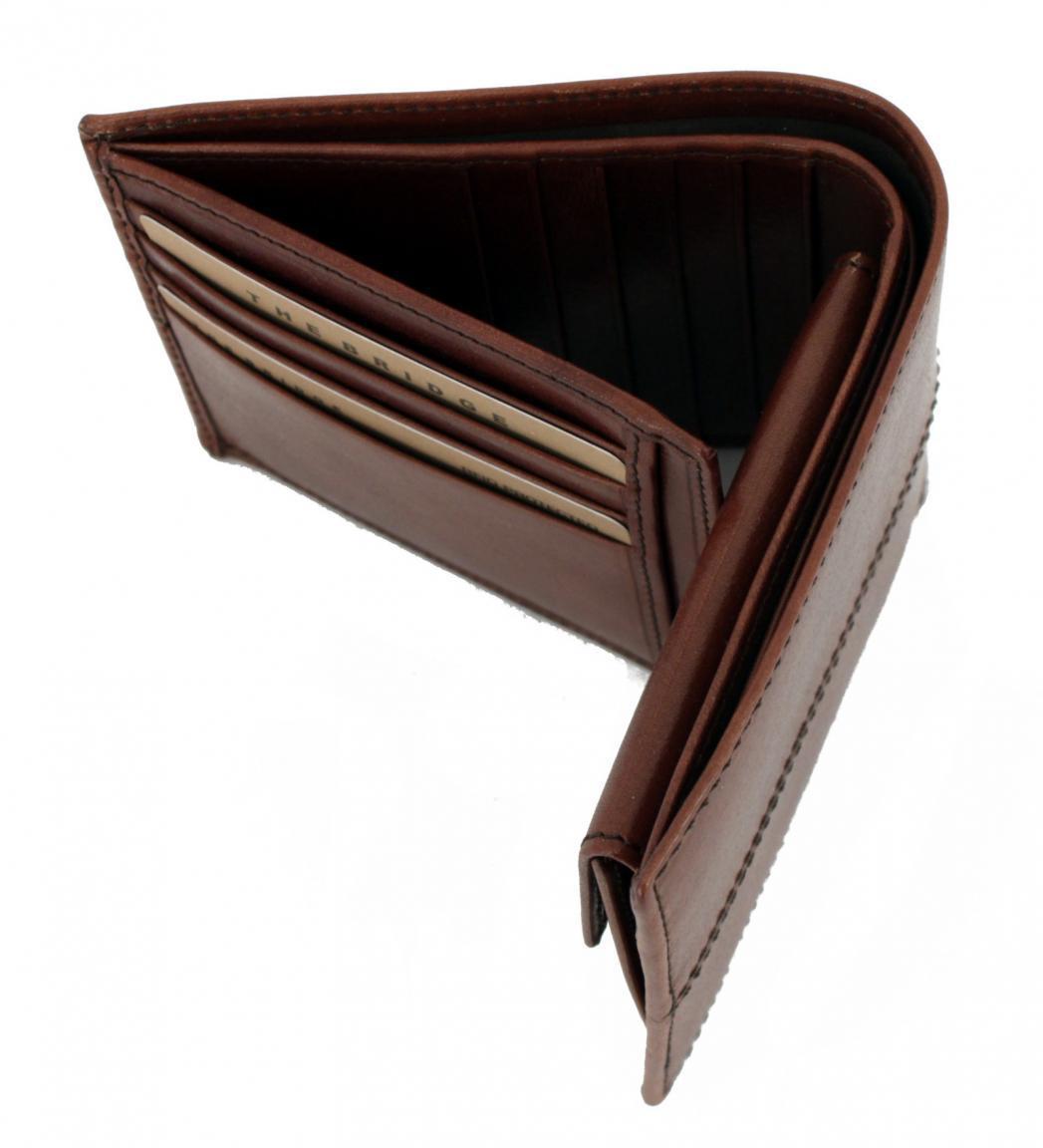 Brieftasche The Bridge Vespucci Marrone braun RFID Leder