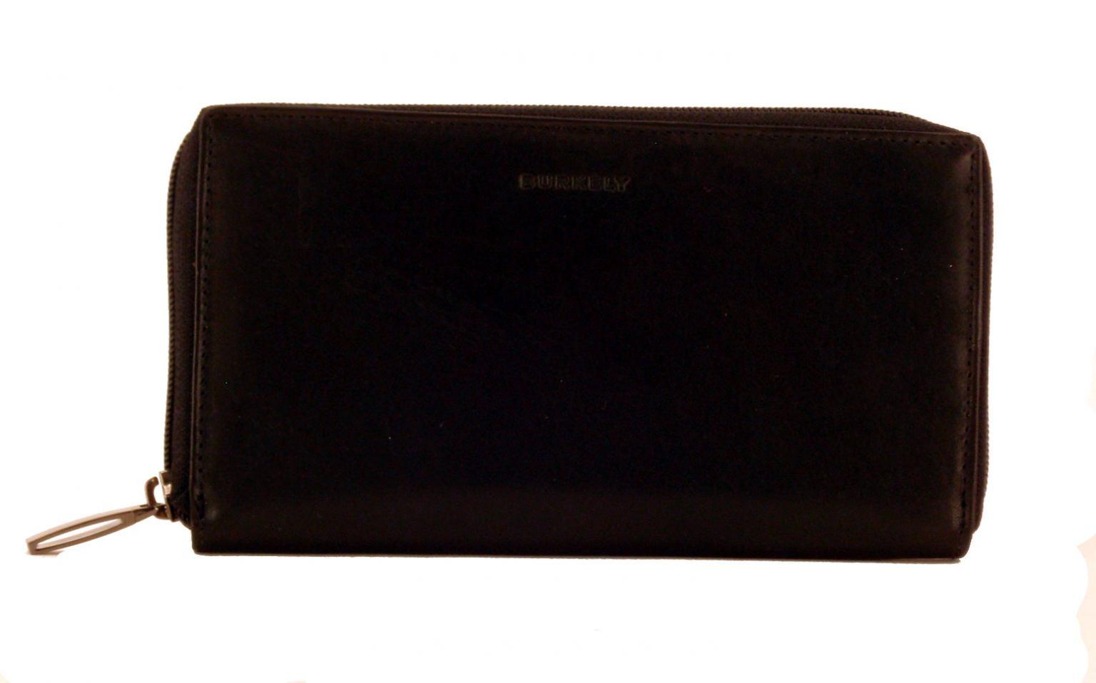 Burkely Damengeldtasche Schwarz mit Reißverschluss