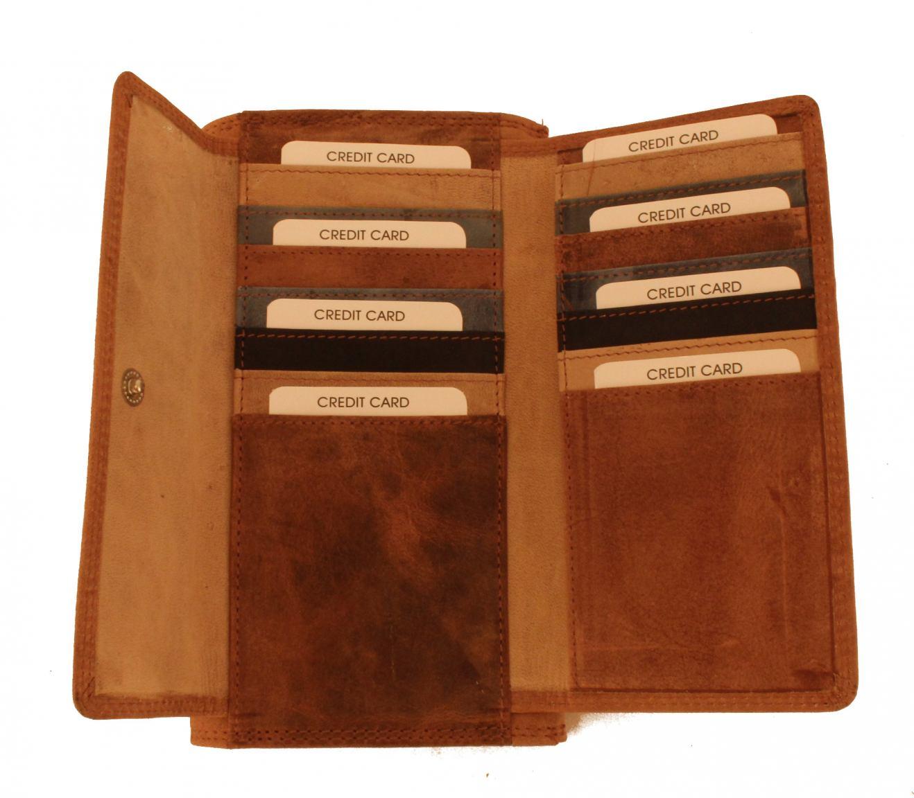 Burkely Lederbörse Überschlag Braun Vintage 2nd Hand