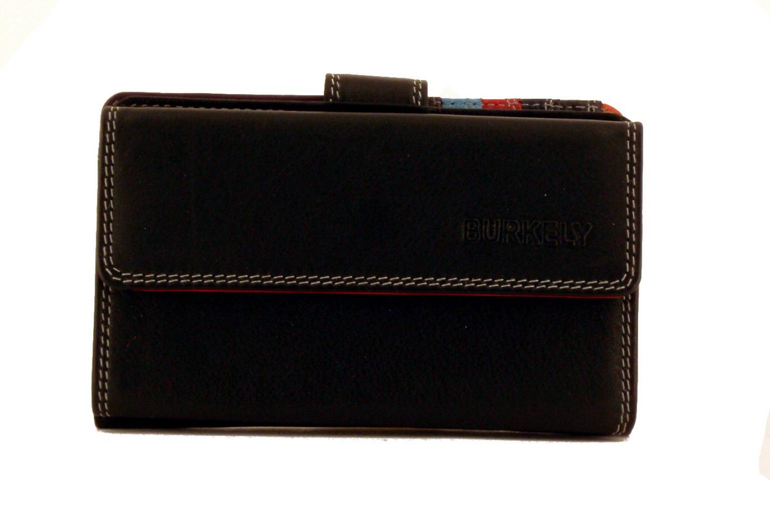Burkely Multicolor Geldbörse (schwarz)