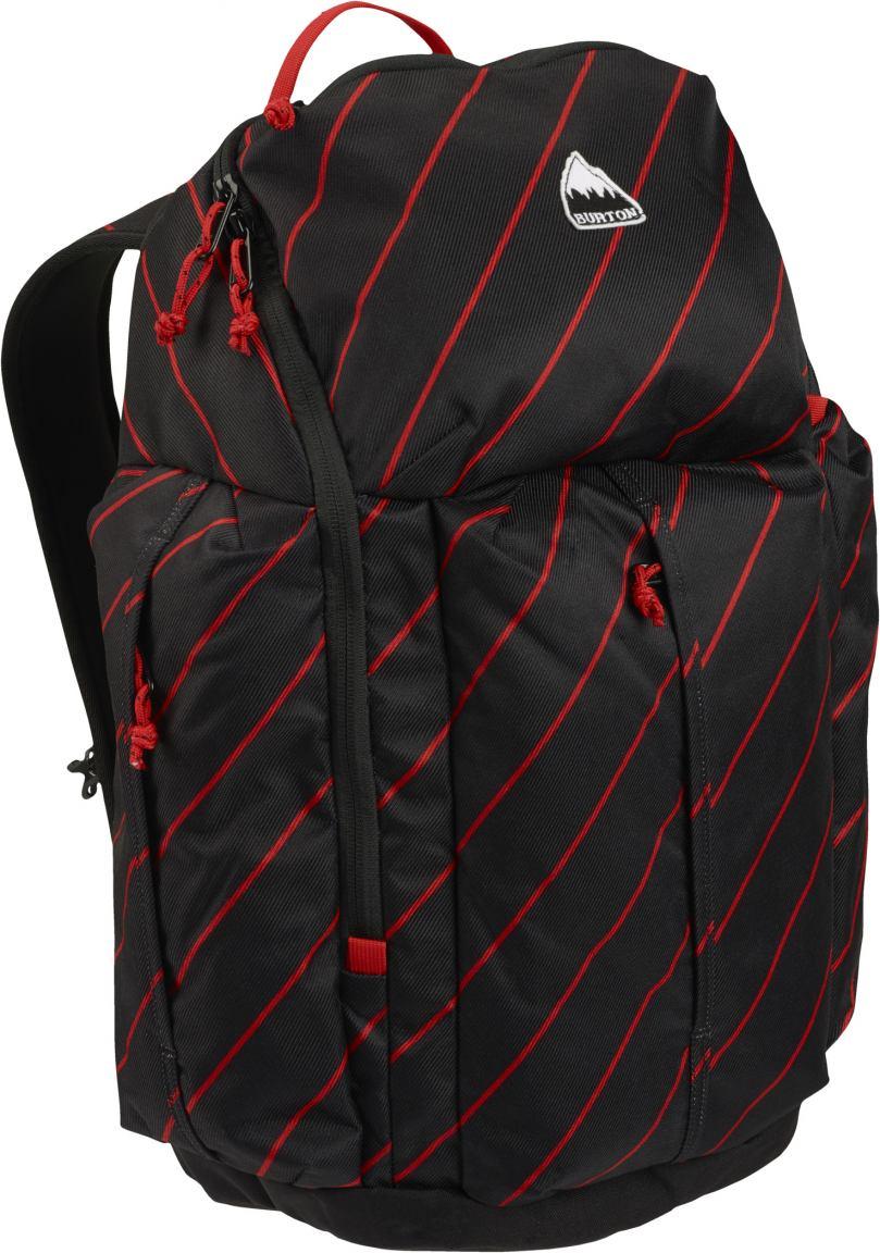 Burton Rucksack Cadet Pack Performer schwarz mit roten Streifen