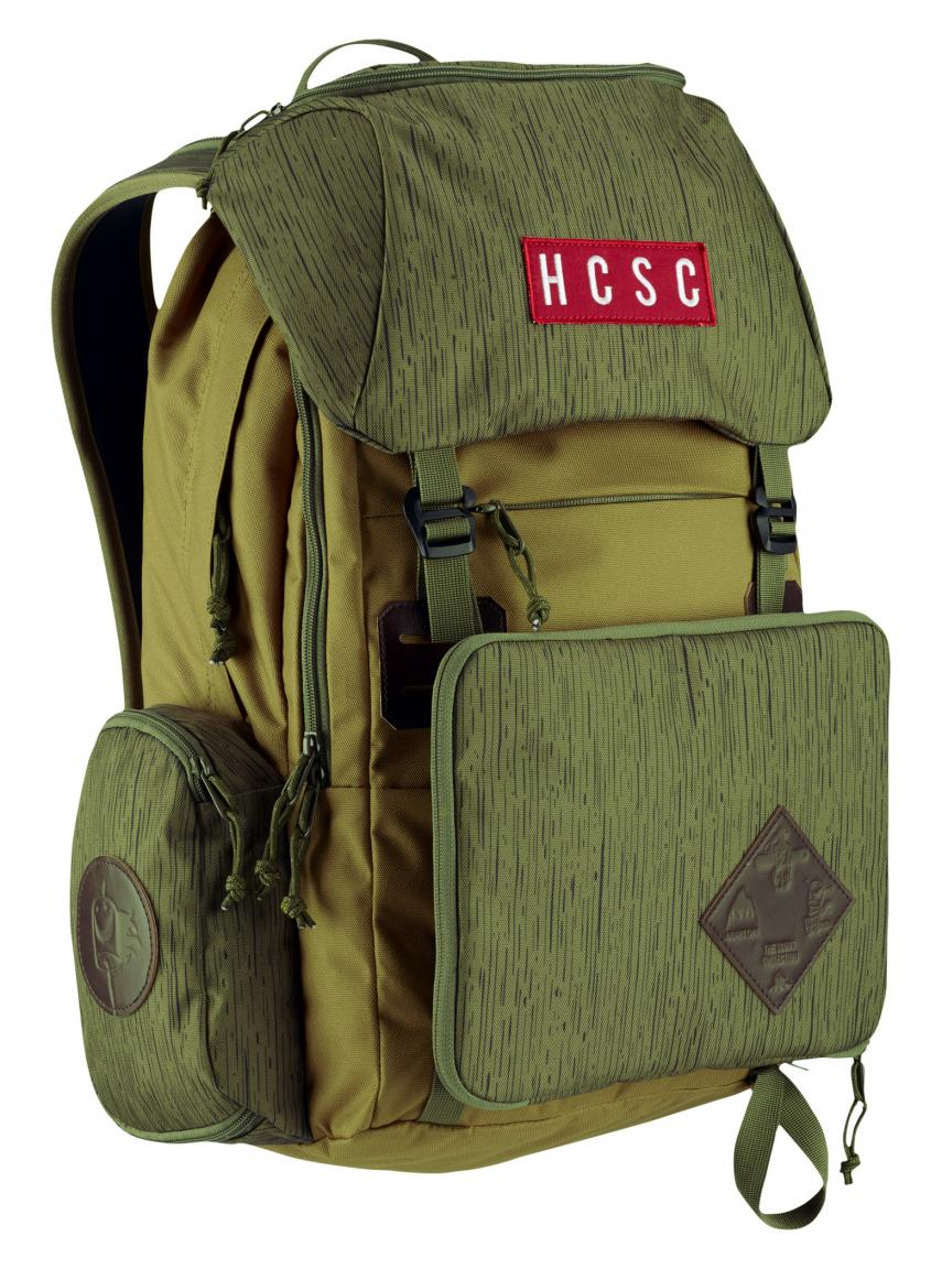 Burton Rucksack mit Regenkapuze HCSC Scout Pack cascade green