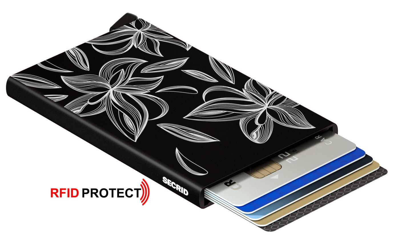 Cardprotector Secrid Laser Magnolia Black schwarz RFID-Schutz