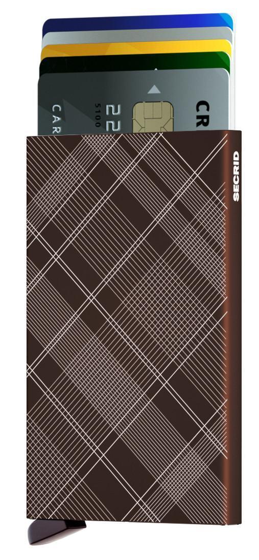 Cardprotector Secrid Metallhülle für Karten Laser Tartan Braun