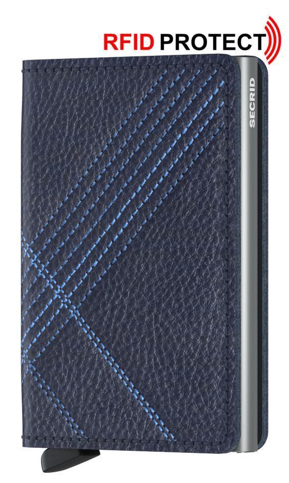 Chipkartenetui Secrid Slimwallet Stickerei dunkelblau Navy