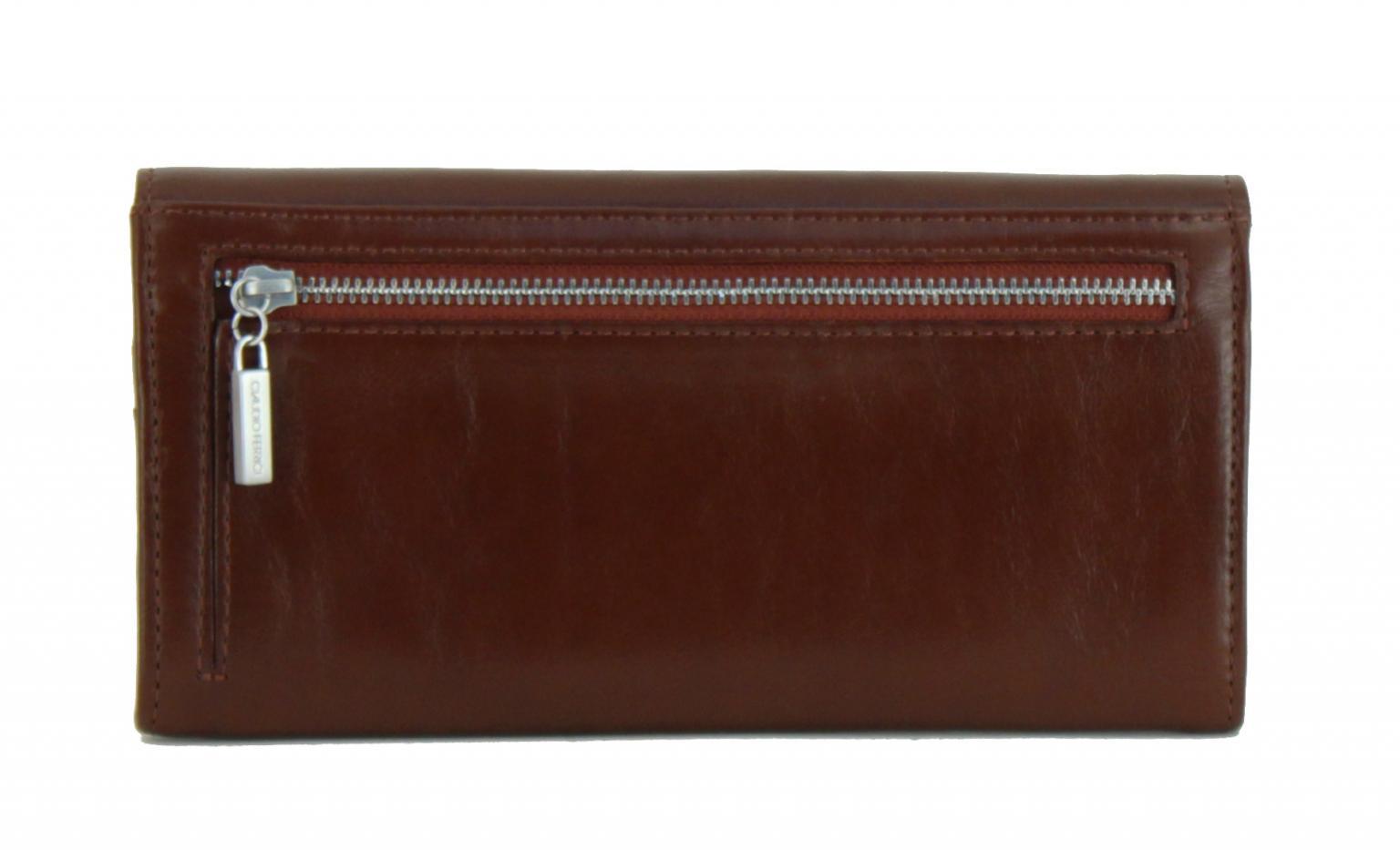Claudio Ferrici Damenbrieftasche mit Überschlag braun